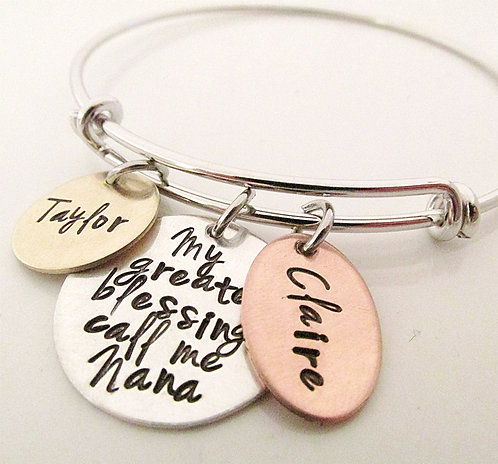 My Greatest Blessings Adjustable Bracelet - Mixed