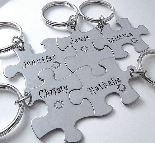 Puzzle Keychains - Bridesmaid Keychains - 5