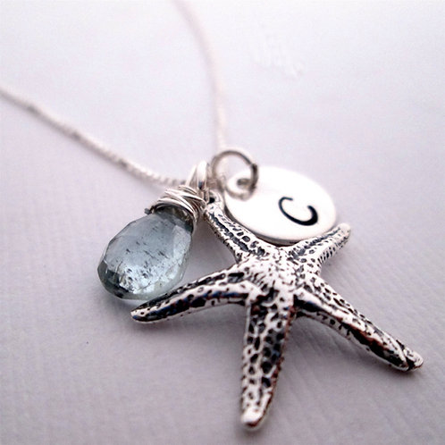 Starfish Necklace - Beach Wedding Jewelry