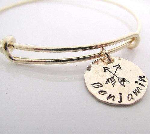 Gold Filled New Mom Gift - Arrow Bracelet
