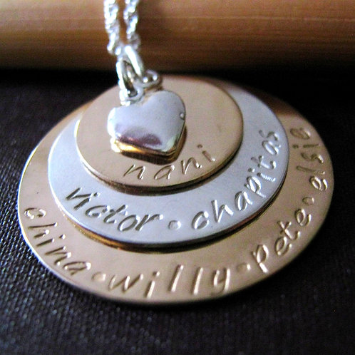 Gold and Silver Mothers Necklace