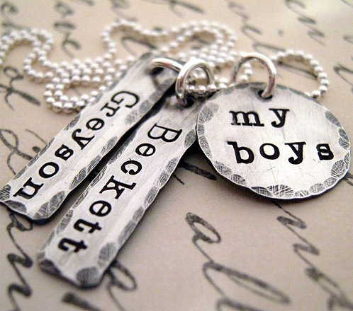 Personalized Necklace - My Boys