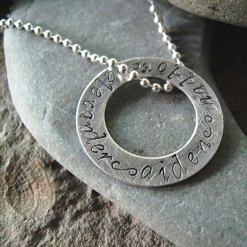Men's Personalized Necklace - Well Rounded