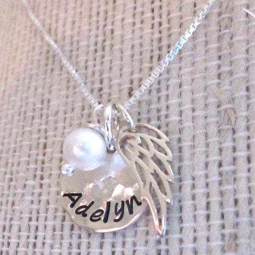 Angel Baby Memorial Necklace