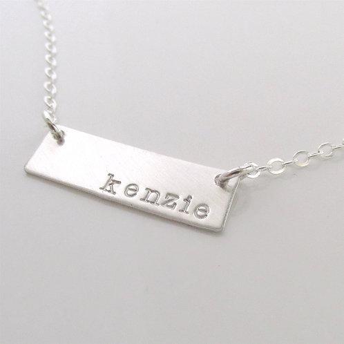 Silver Bar Necklace - Name Necklace