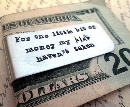 For the Little Bit of Money - Kids - Money Clip