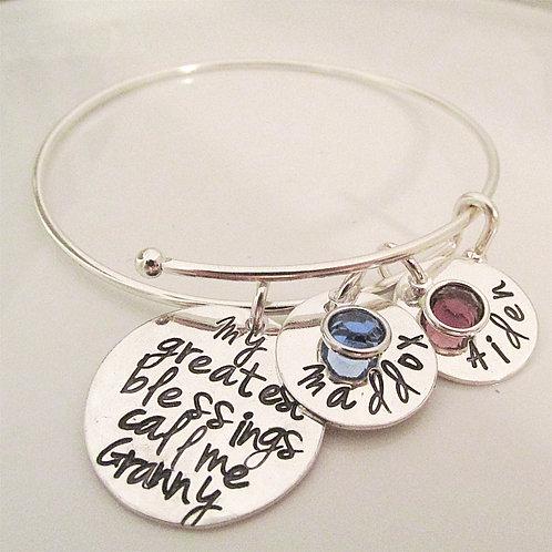 Personalized Bracelet- Granny