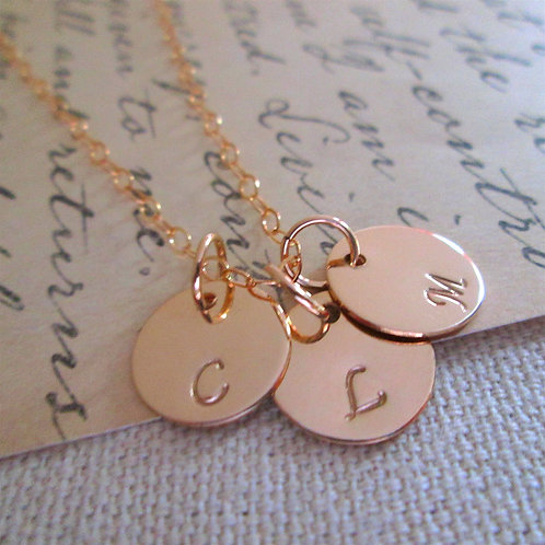 Mother's Necklace - gold filled initial necklace