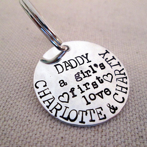 A girls first love Personalized Keychain - Hand st