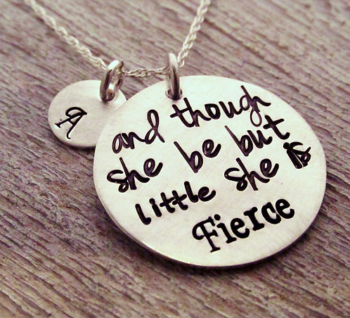 Inspirational Necklace - She be but little