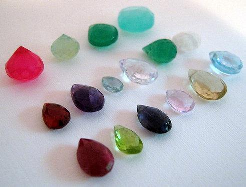 Add a wire wrapped gemstone
