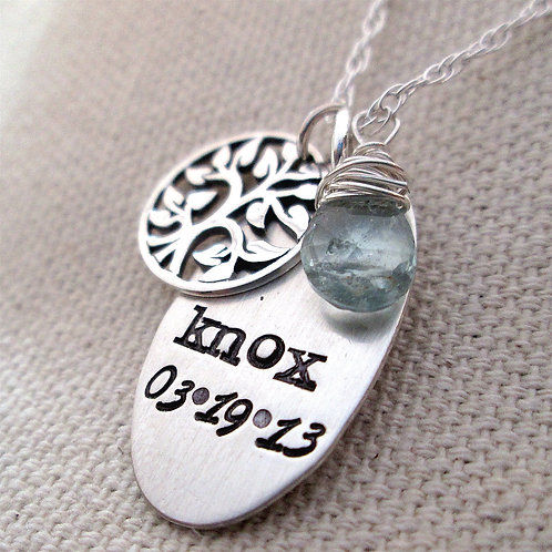 Personalized necklace - Mother's Necklace - Life