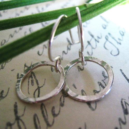 Tiny Hoope Earrings - Sterling Silver