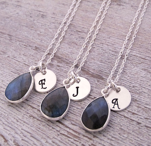 Bridesmaid Gemstone Necklaces - Set of 3