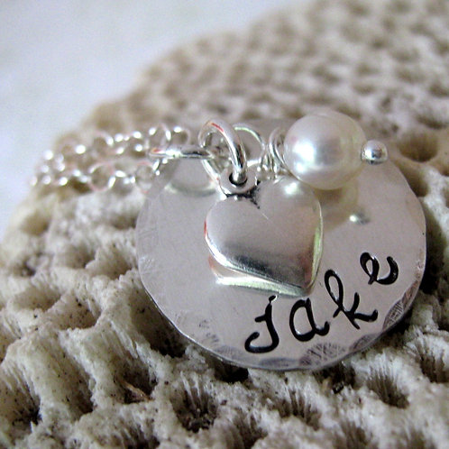 One Love - sterling silver personalized necklace