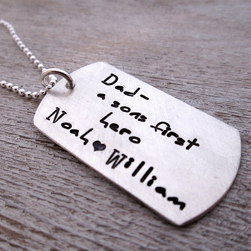 A Son's First Hero - Dog Tag Necklace