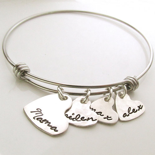 Hearts of Love - Personalized Mother's Bracelet