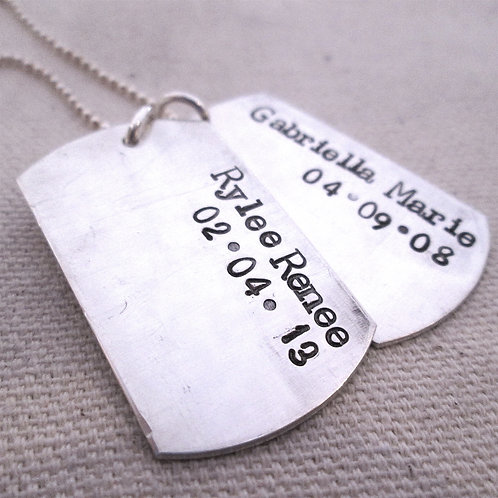 Da Dog Tag Necklace  - Personalized Men's Jewelry