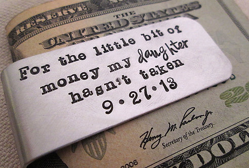 Father of the Bride Money Clip