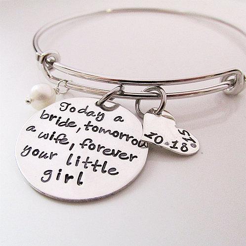 Forever Your Little Girl Bracelet