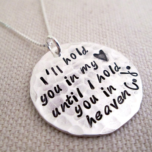 Memorial Necklace - I'll hold you in my heart