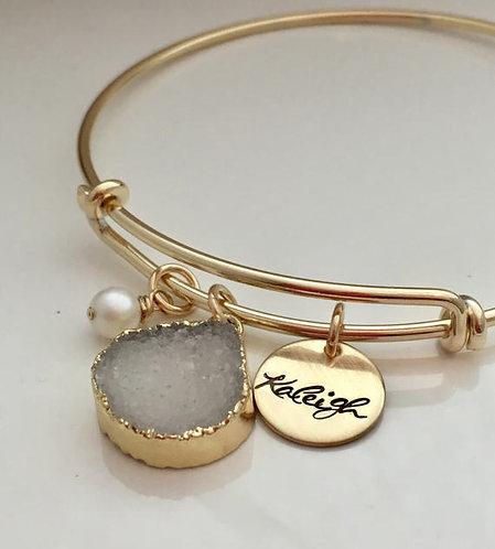 Personalized Bracelet - Druzy Bracelet