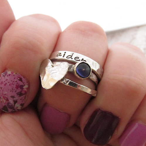 Mother's Jewelry - Loved - Stacking Rings