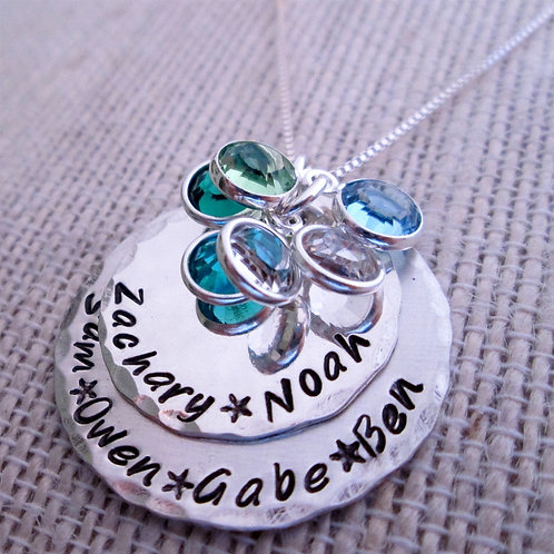 Grandmother Necklace - Birthstone Necklace