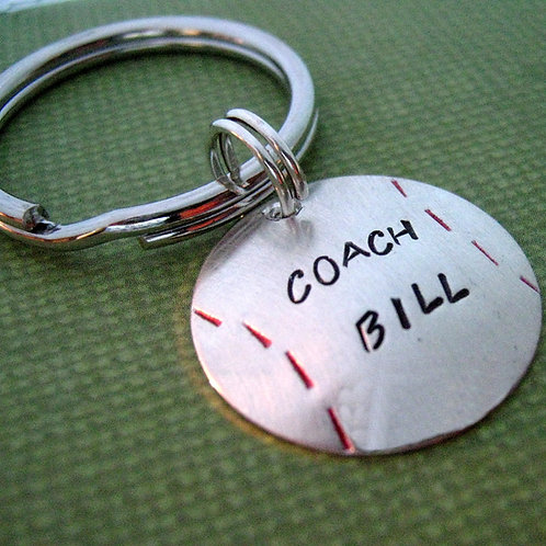 Baseball Coach Gift - Personalized key chain