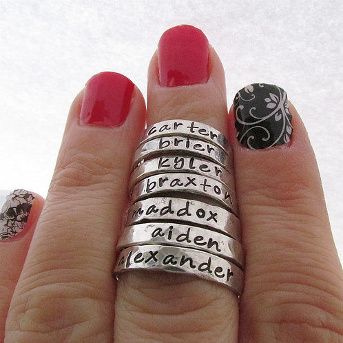 ONE Personalized Ring - Stackable Ring