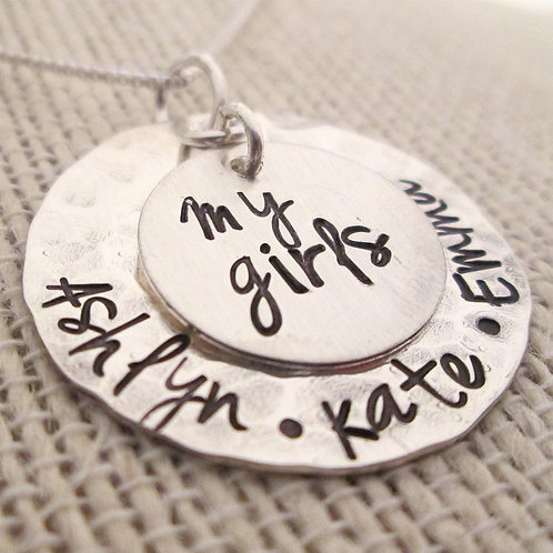My Girls Necklace - Mother's Jewelry