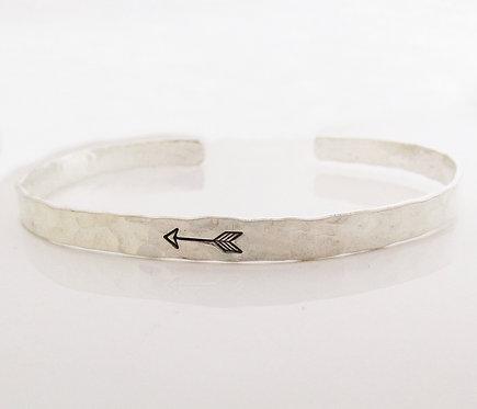 Arrow Bracelet - sterling silver cuff bracelet