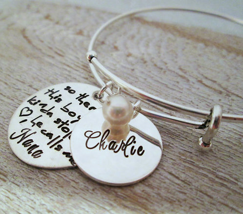 Personalized Bracelet- So There's This Boy