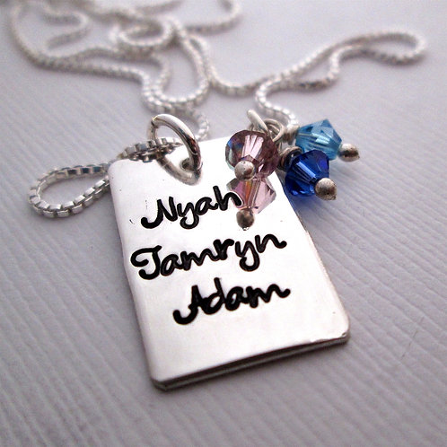My Little Ones -  Mother's Birthstone Necklace