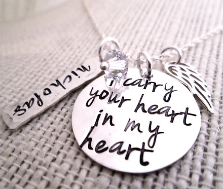 Remembrance Necklace - I Carry Your Heart