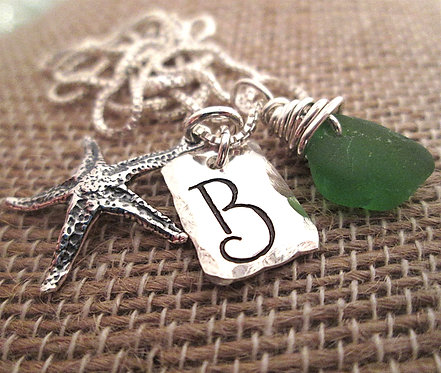 Beachy - Starfish Initial Necklace