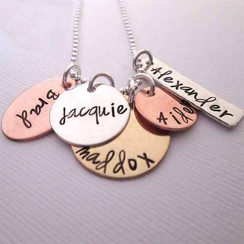 Sweet Family - Hand Stamped Jewelry - Personalized
