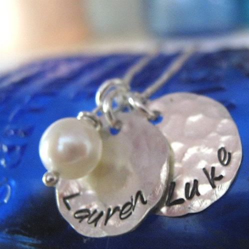 Mommy Necklace - Two Loves