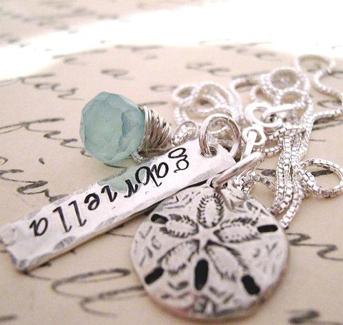 Sand Dollar Necklace - Custom Stamped Necklace