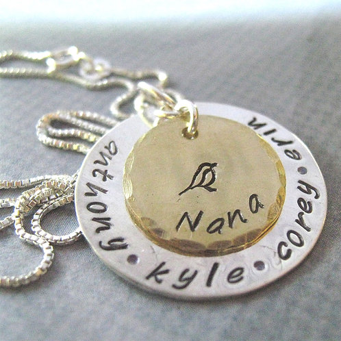 Nana Necklace - hand stamped personalized necklace