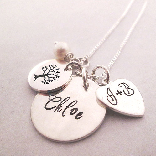 Little Family Necklace - Personalized Necklace