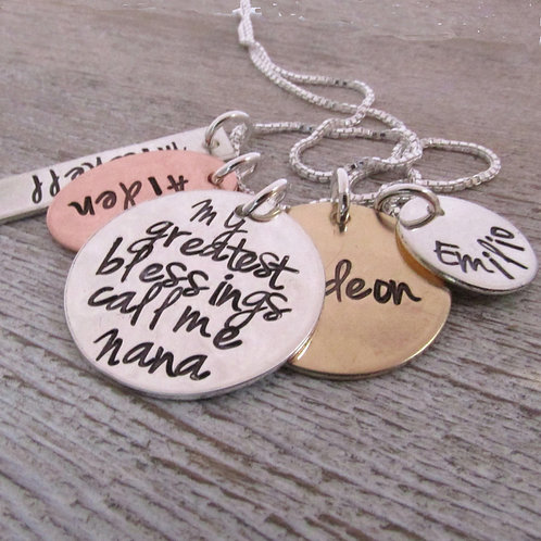 My Greatest Blessings - Nana Necklace