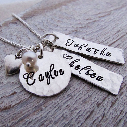 Heart - personalized mothers necklace