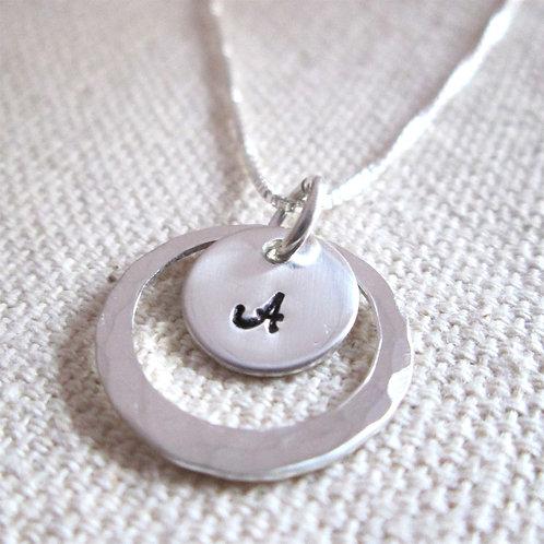 Initial Necklace - Bridesmaid Necklace - Single