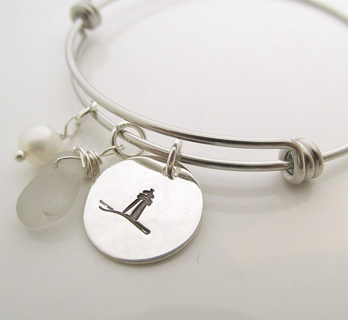 Lighthouse Beach Glass Bracelet
