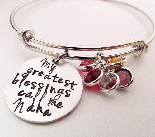 My Greatest Blessings Birthstone Bracelet