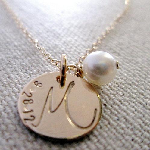 14 kt Solid Gold Necklace - Graduation Necklace