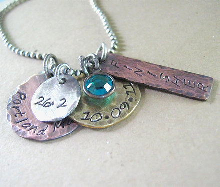 Personalized Necklace - Marthon