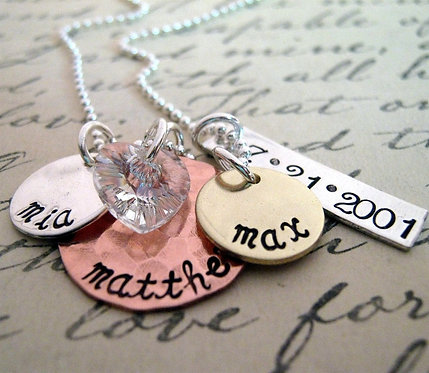 Mix It Up  Family Necklaces
