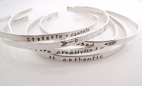 SET OF 5 Skinny Cuff Bracelets